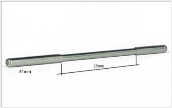 Slot It Achse Ø2,38x54mm Sidewinder verjüngt (2Stk)