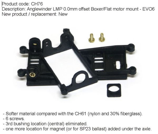 Slot It Motorhalter CH76 Anglewinder für GT/LMP