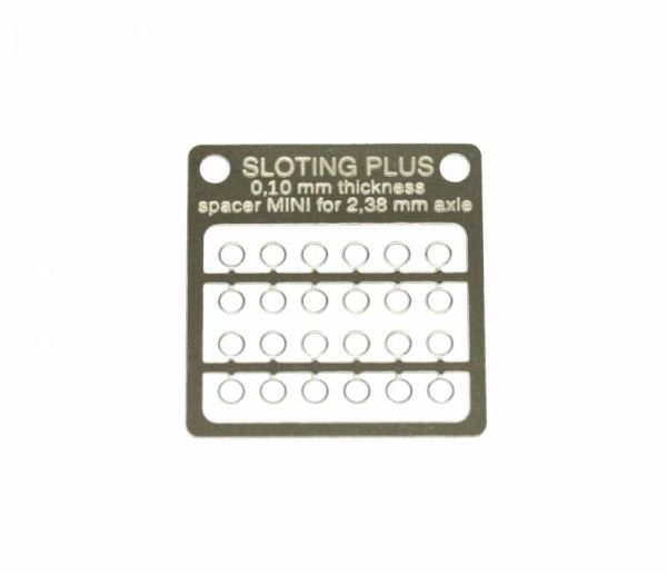 Sloting Plus Achsdistanz Mini 0,10 mm 2,38mm 24 Stk SP062001