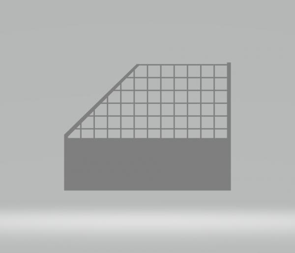 Slot-Store Fangzaun 130mm Endstück rechts ohne Montageclips (1Stk) SSFZEROC