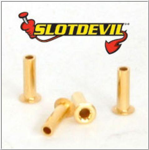 Slotdevil Leitkielsteckhülsen vergoldet (4 Stück)