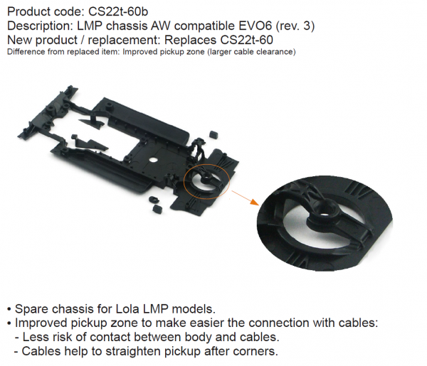 Slot It Fahrwerk Lola LMP Evo 6 CS22T-60b