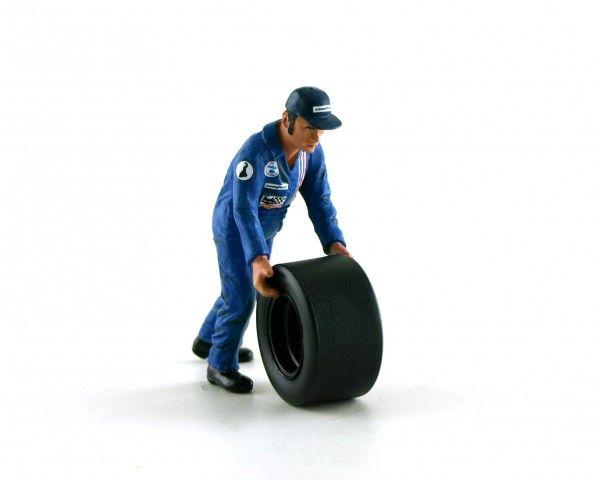 LMM Figur Francis Mechaniker blauer Overall f.Reifenwechsel 1:32 LMF132040