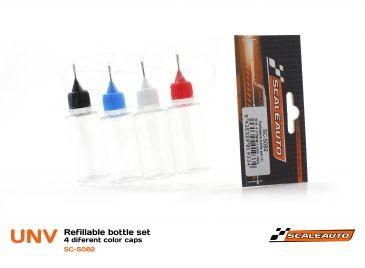 Scaleauto Nadeldosierflaschen-Set 4 Stk a 20ml SC-5082