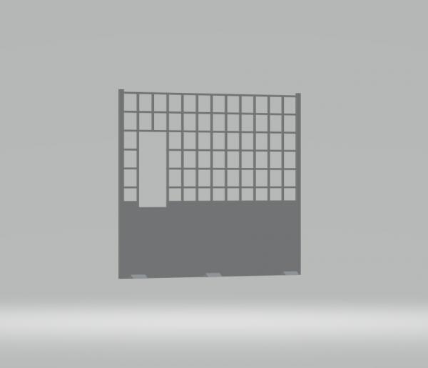 Slot-Store Fangzaunmit Durchstieg 130 mm ohne Clipmontage (1Stk) SSFZDCO130