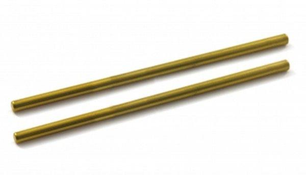 Scaleauto Achse Ø2,38x65mm Stahl vergoldet m.gehärteter Oberfläche (2 Stk) SC1213B