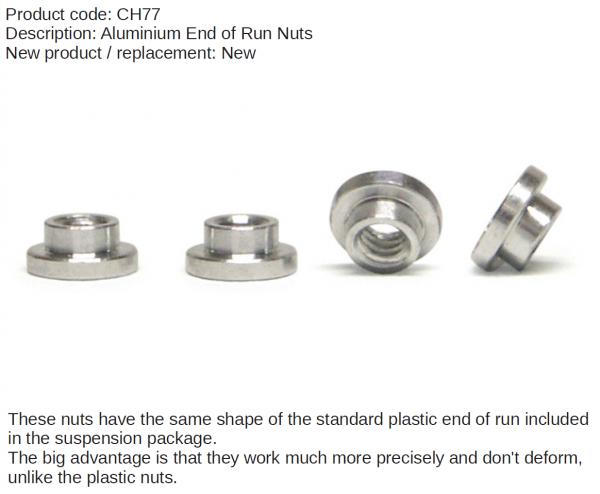 Slot It Stellringe Aluminium für Fahrwerksfederung CH77 (4Stk.)