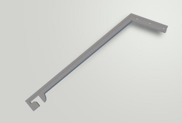 Slot-Store Pfosten abgewinkelt 110 mm -Clip- für Fangzaun 130 mm (1Stk) ZPAWCC110