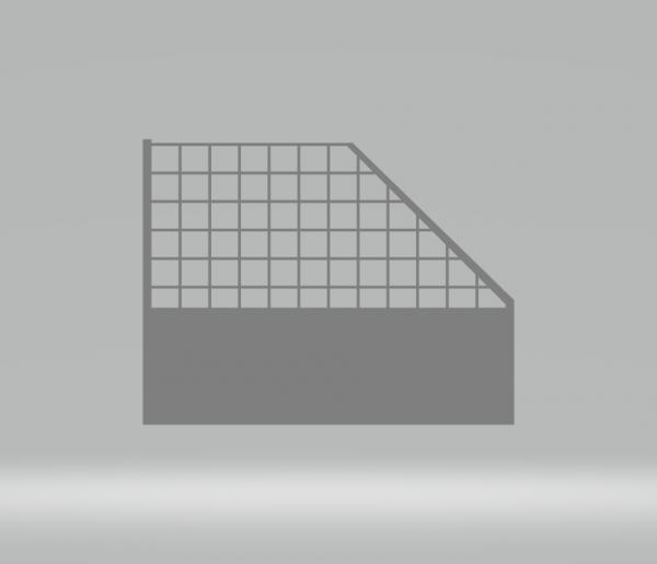 Slot-Store Fangzaun 130mm Endstück rechts inkl. 2 Montageclips (1Stk) SSFZERCL130