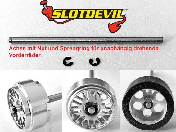 Slotdevil Zeroglide 2,38 mm Freilaufachse 2,38 x 50 mm Nut/Sich. (1 St.) 200352350