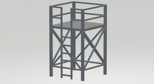 Slot-Store Kamera/Aussichtsturm Modern Bausatz 1:32 SKA132M