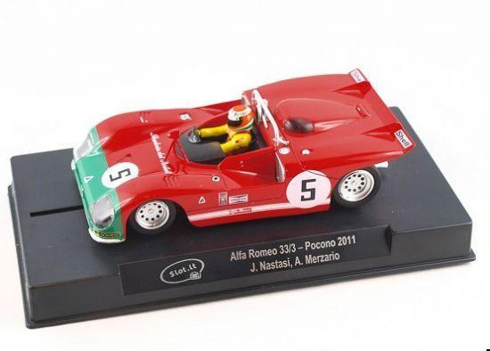 Slot It Alfa Romeo 33/3, Nr.5, Pocono 2011 CA11M