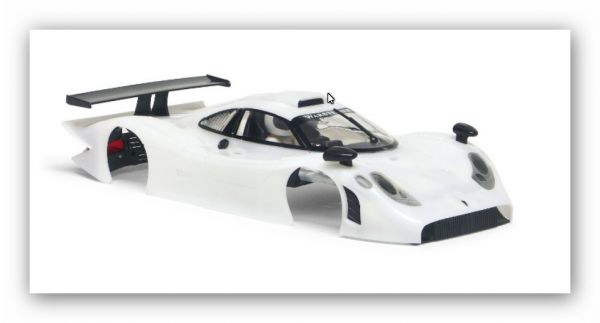 Slot It Karosserie Porsche 911 GT1 Evo98 White Body Kit 1:32