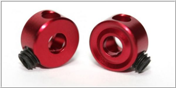 Sloting Plus Achstellring 3/32 2,38 mm Rot Aluminium (4 Stk) SP061101