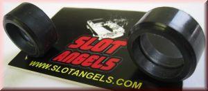 Slotangels Silikonreifen schwarz 24,5x12 XLot (2Stück)