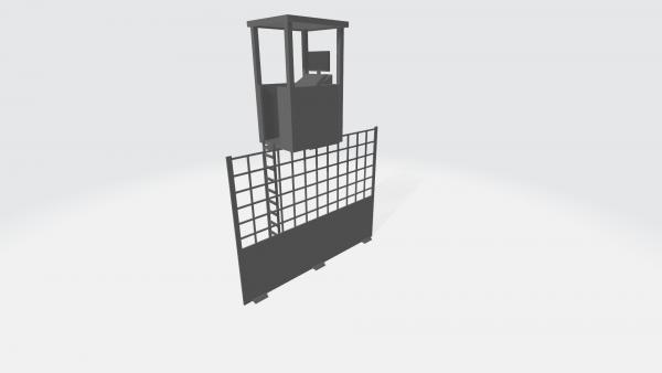 Slot-Store Fangzaun Starterhaus inkl. Fangzaun 130 mm (1Stk) SSSHFZ01