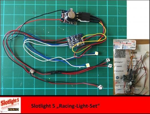 Slotlight 5 Racing Light Set -Xenon- SL5 separates Bremslicht