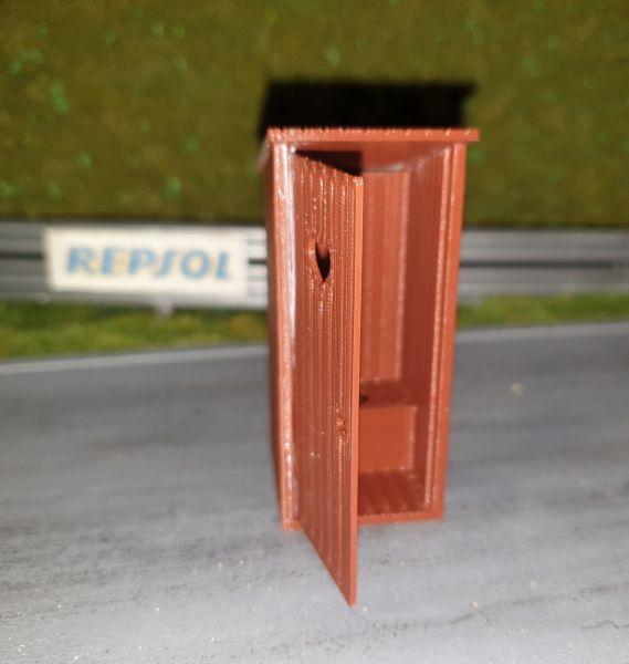 Slot-Store Toilettenhaus Kastanienbraun Bausatz 1:32 SMPK132K