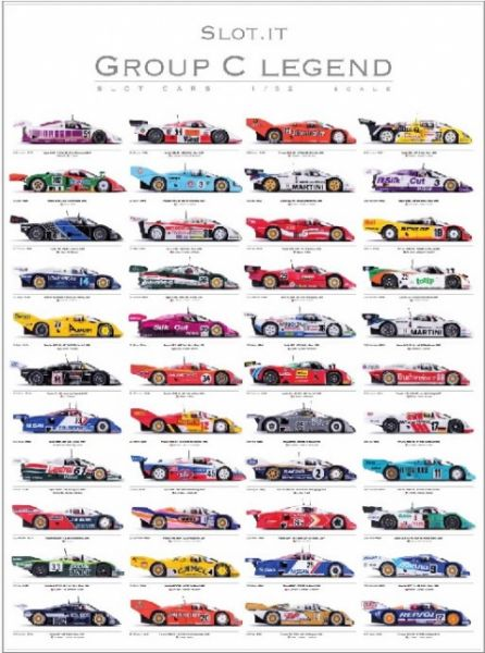 Slot.it, Poster Group C Legends (2011-2017) limitiert 1500 Stück Format A1 70x100 cm