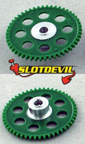 Slotdevil Spurzahnrad Kunststoff V2 50 Zähne 3 mm grün 20250650