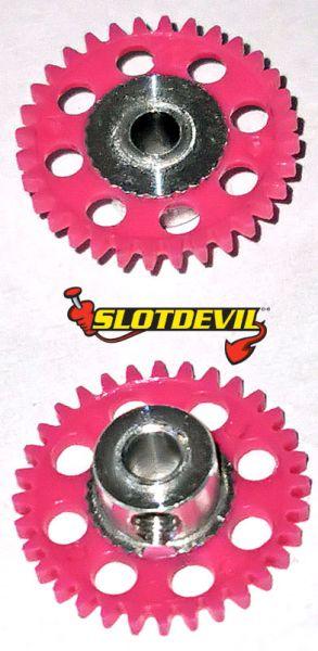 Slotdevil Spurzahnrad 3,0 mm V2 32 Zähne pink 20250632