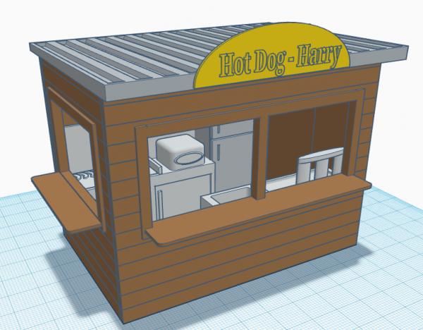 Slot-Store Verkaufsstand -Hot Dog Harry- Bausatz 1:32 VSHH101